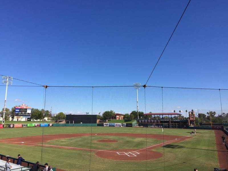 Seating view for Scottsdale Stadium Section 201 Row O Seat 7