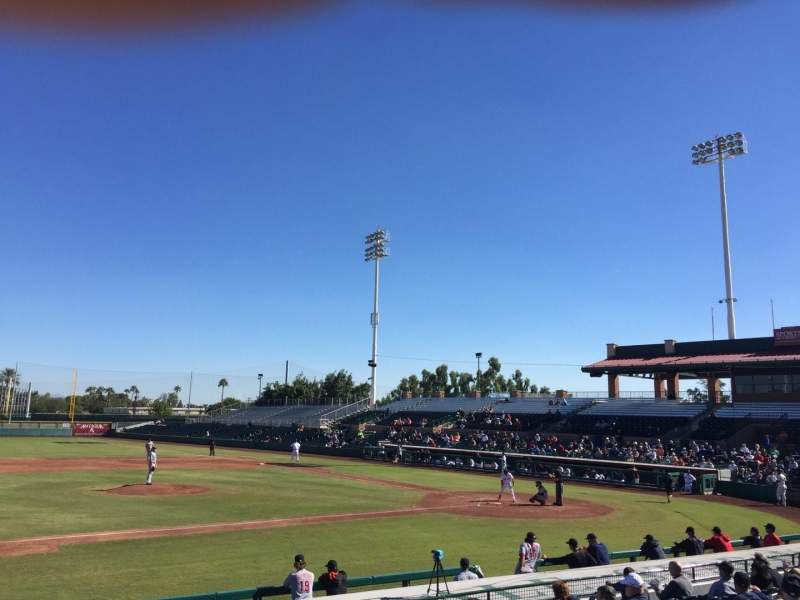 Seating view for Scottsdale Stadium Section 213 Row K Seat 6