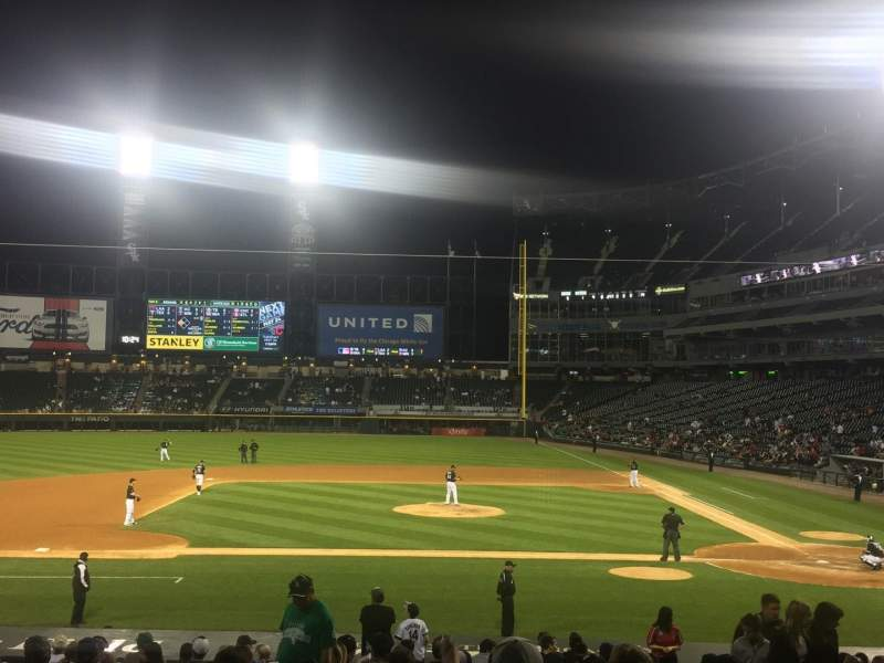 Seating view for Guaranteed Rate Field Section 138 Row 22 Seat 3