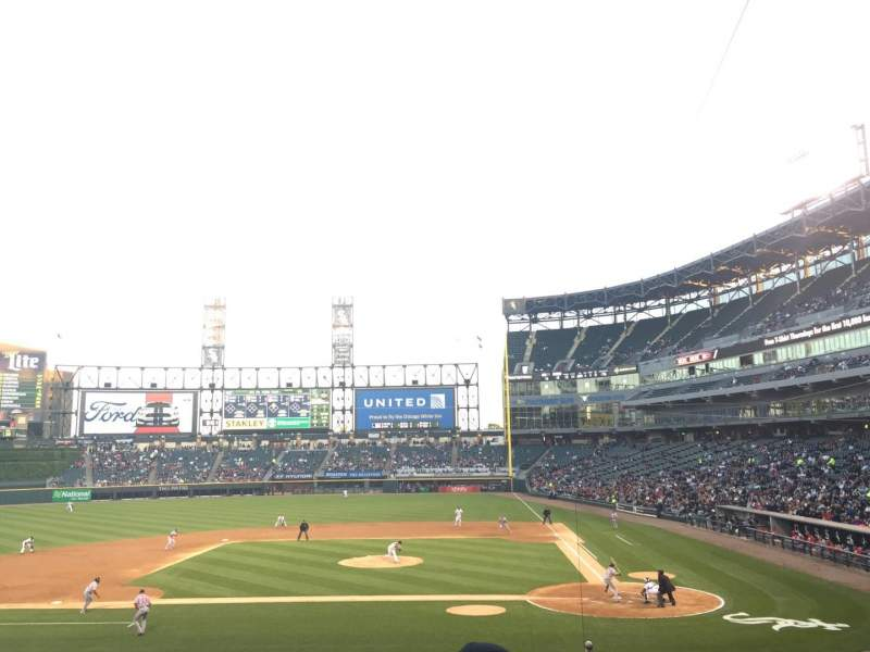 Seating view for Guaranteed Rate Field Section 137 Row 29 Seat 3