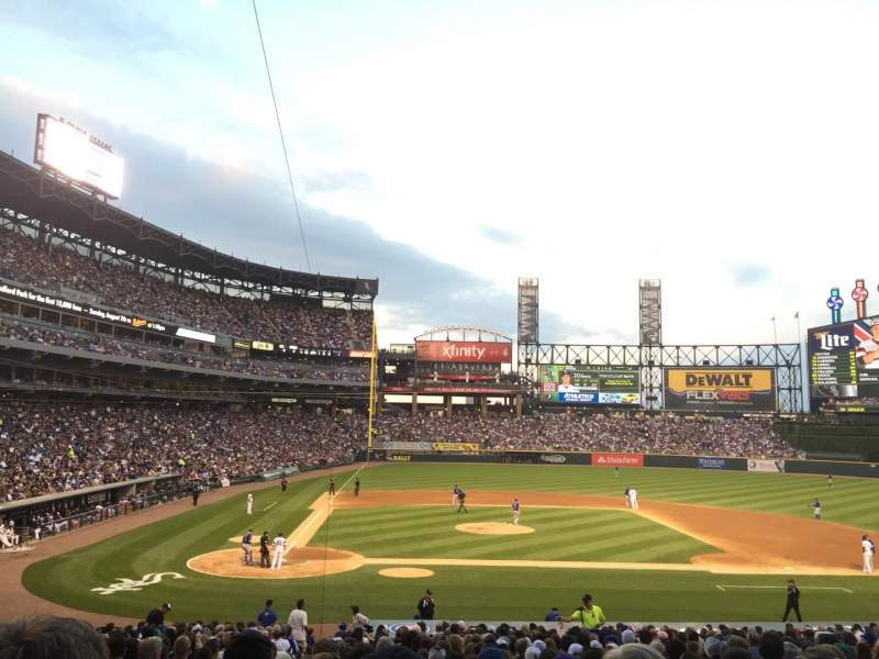 Seating view for Guaranteed Rate Field Section 127 Row 31 Seat 9