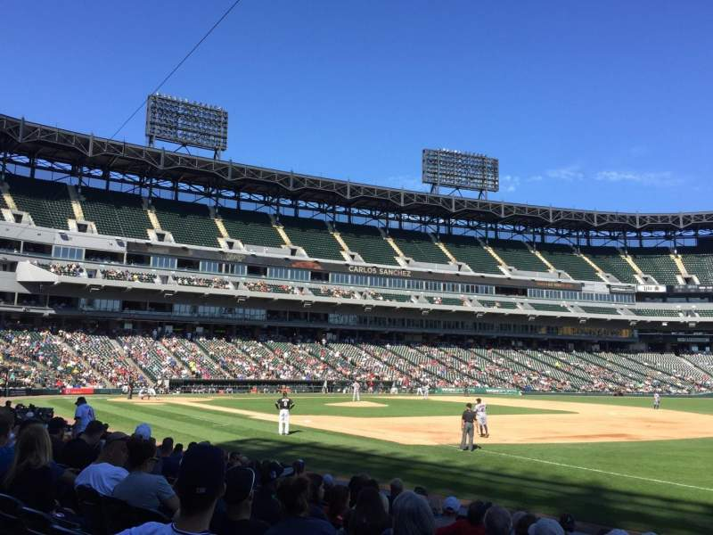 Seating view for U.S. Cellular Field Section 117 Row 10 Seat 5
