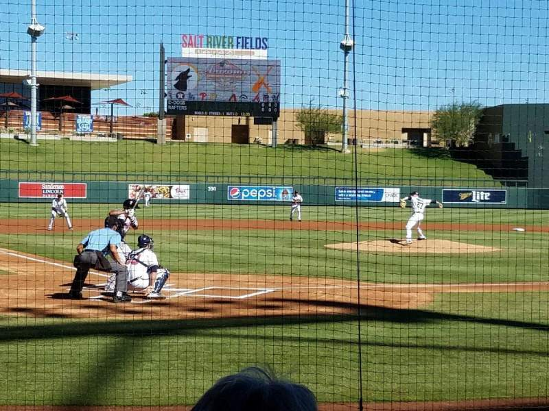 Seating view for Salt River Fields Section 110 Row 7 Seat 3
