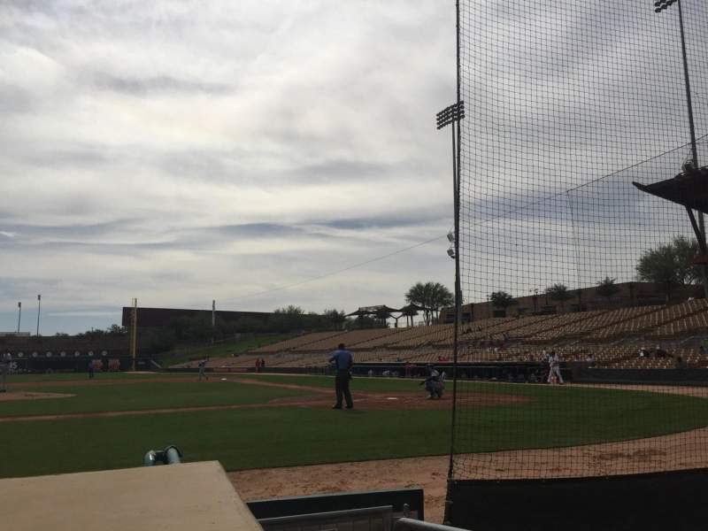 Seating view for Camelback Ranch Section 20 Row 4 Seat 1