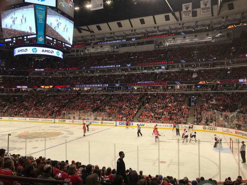 Seating view for United Center Section 120 Row 15 Seat 12