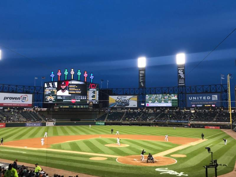 Seating view for Guaranteed Rate Field Section 134 Row 29 Seat 1