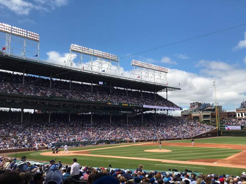 Seating view for Wrigley Field Section 125 Row 13 Seat 18