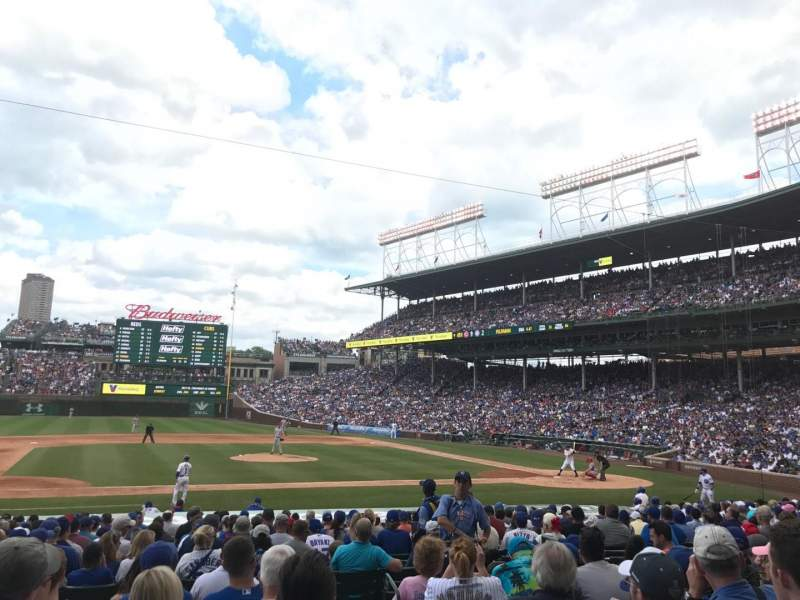 Seating view for Wrigley Field Section 111 Row 7 Seat 15