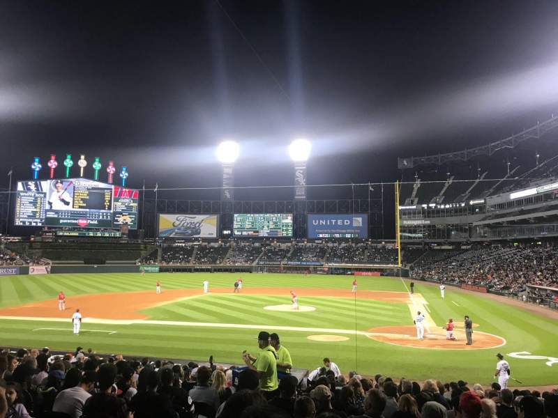 Seating view for Guaranteed Rate Field Section 136 Row 22 Seat 8