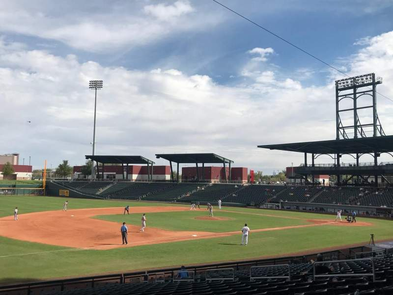 Seating view for Sloan Park Section 105 Row 23 Seat 6