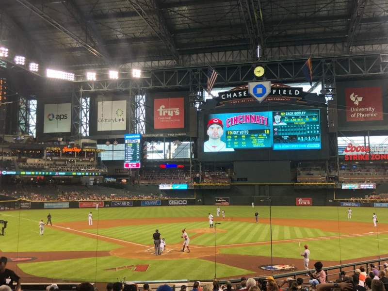 Chase Field, section: 121, row: 24, seat: 1