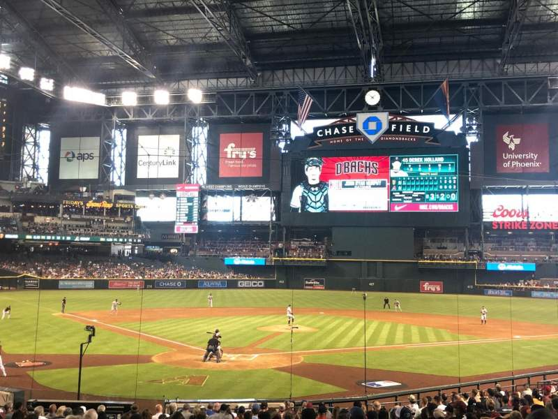 Chase Field, section: 121, row: 27, seat: 1