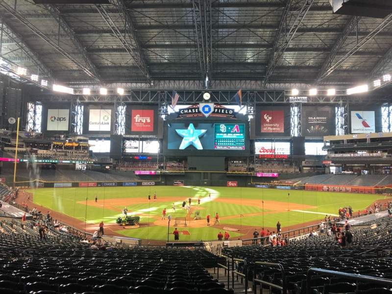 Seating view for Chase Field Section 122 Row 37 Seat 2