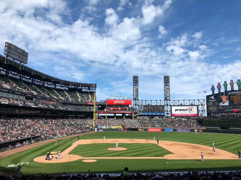 Seating view for Guaranteed Rate Field Section 127 Row 33 Seat 2