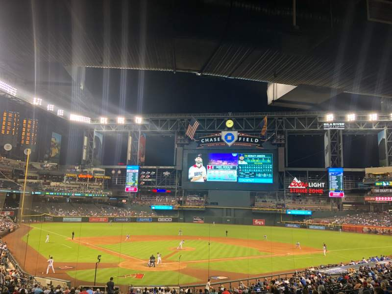 Seating view for Chase Field Section 121 Row 39 Seat 2