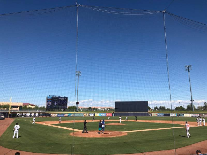 Seating view for Peoria Sports Complex Section 101 Row L Seat 3