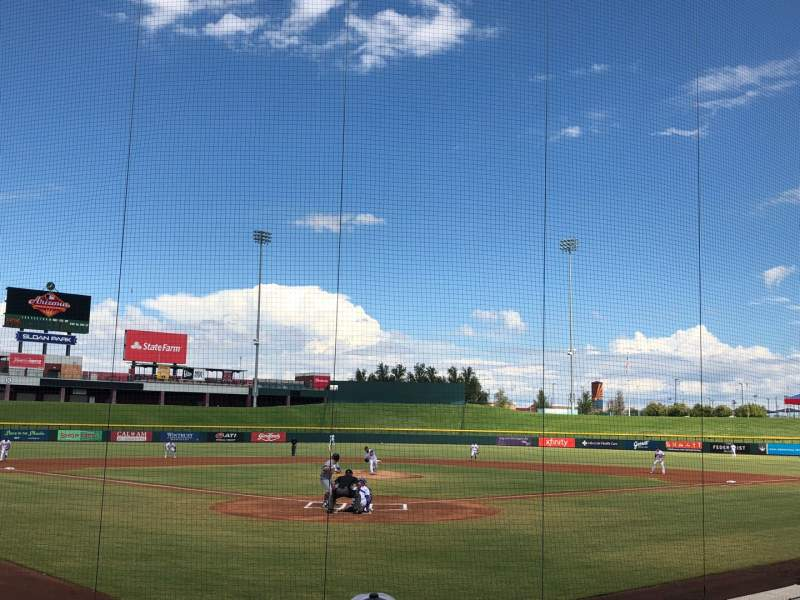 Seating view for Sloan Park Section 111 Row 9 Seat 14