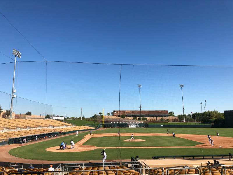 Seating view for Camelback Ranch Section 111 Row 10 Seat 6