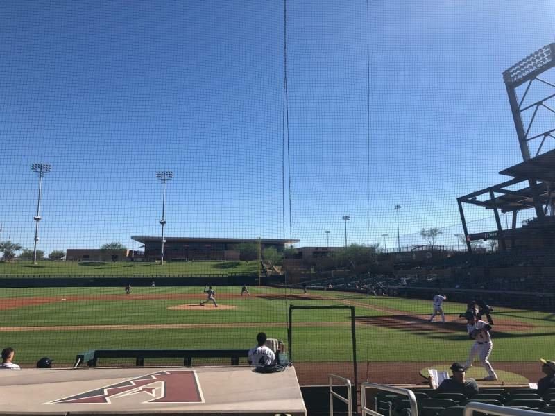 Seating view for Salt River Fields Section 116 Row 10 Seat 1