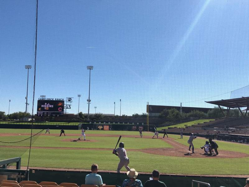 Seating view for Camelback Ranch Section 19 Row 9 Seat 1