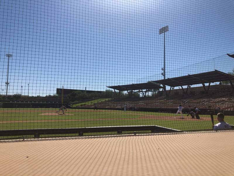 Seating view for Camelback Ranch Section 21 Row 4 Seat 1