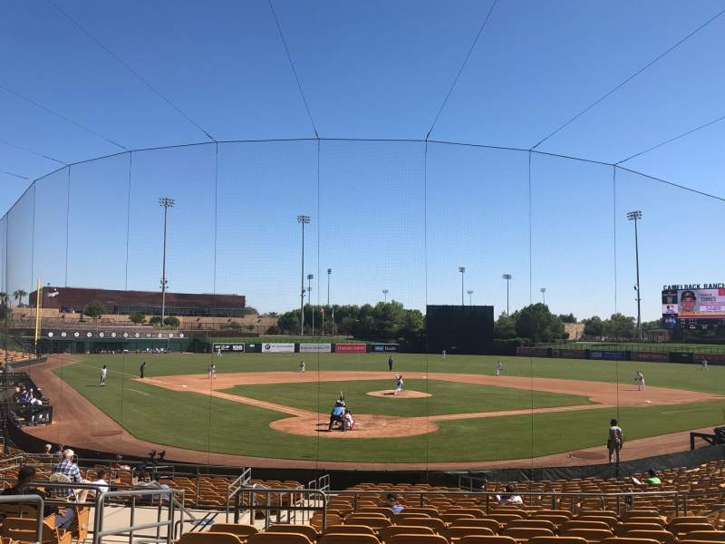 Seating view for Camelback Ranch Section 114 Row 12 Seat 13