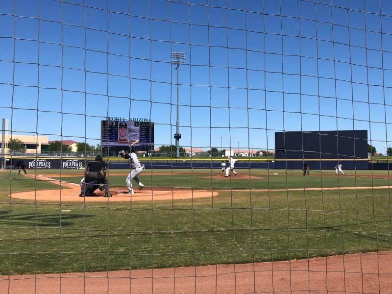 Seating view for Peoria Sports Complex Section 104 Row A Seat 1