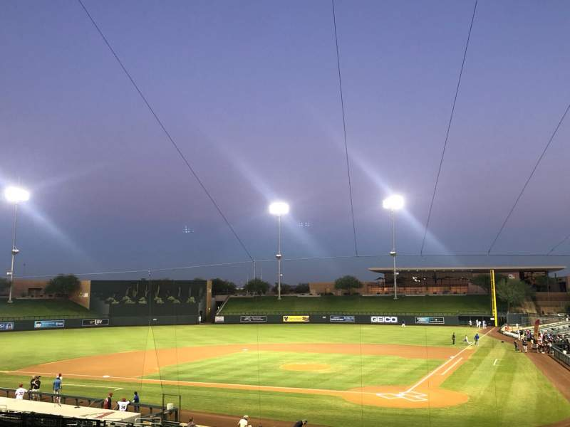 Seating view for Salt River Fields Section 214 Row 15 Seat 1