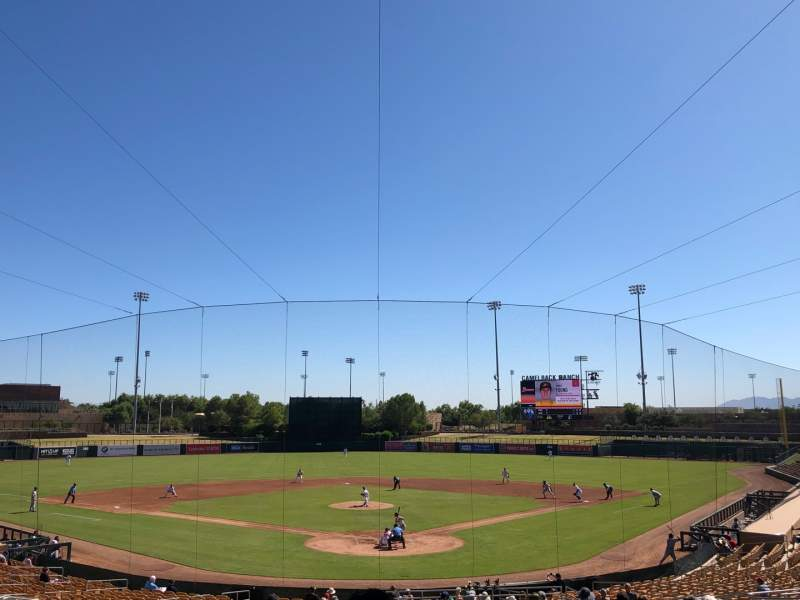 Seating view for Camelback Ranch Section 115 Row 21 Seat 19