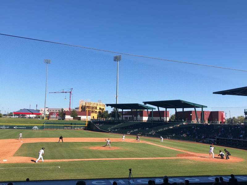 Seating view for Sloan Park Section 107 Row 21 Seat 22