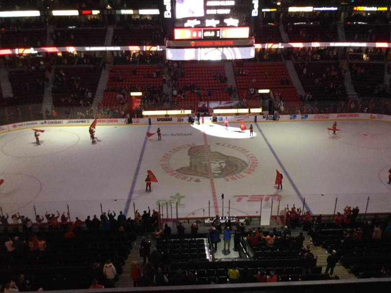 Seating view for Canadian Tire Centre Section 322 Row D Seat 9