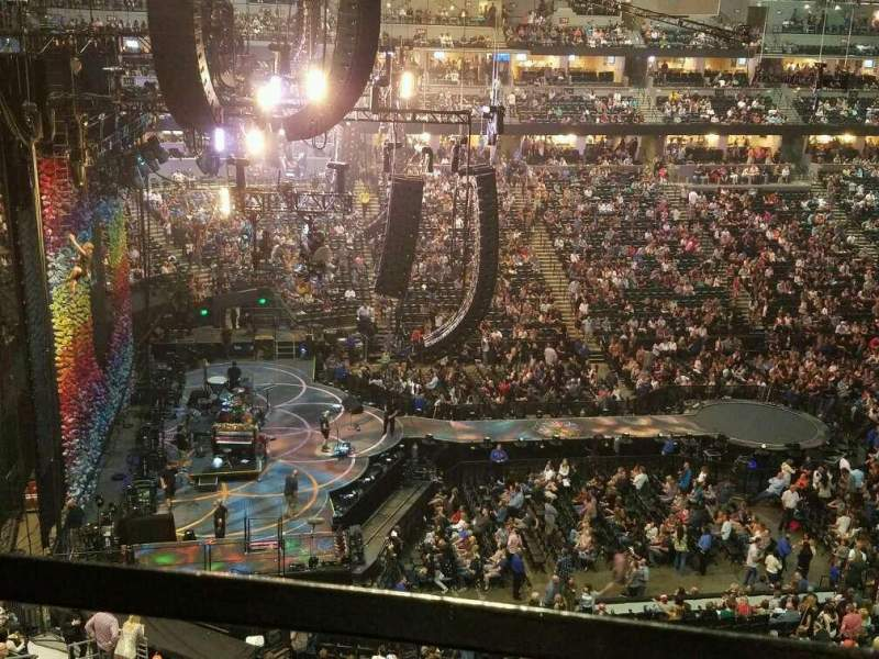 Seating view for Pepsi Center Section 349 Row 1 Seat 13