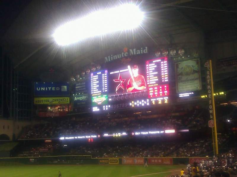 Seating view for Minute Maid Park Section 122 Row 21 Seat 22