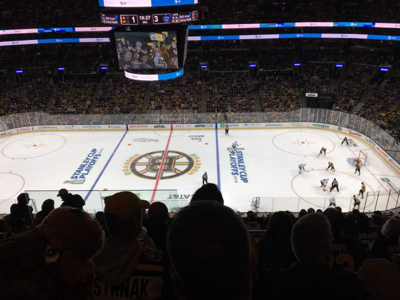 Seating view for TD Garden Section BAL 330 Row 11 Seat 18