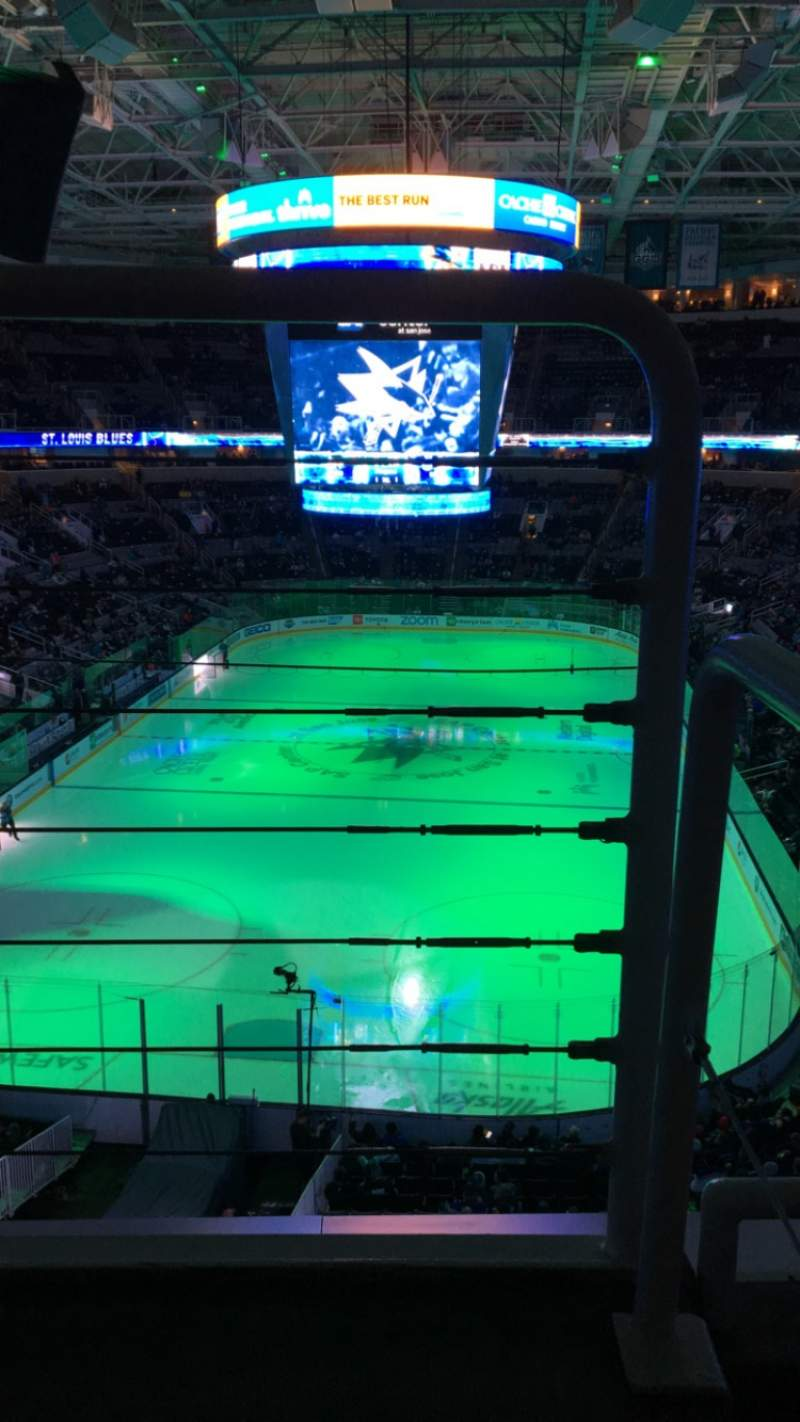 Seating view for SAP Center Section 221 Row 2 Seat 24