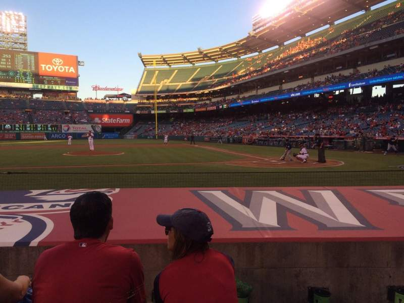 Seating view for Angel Stadium Section F113 Row E Seat 5