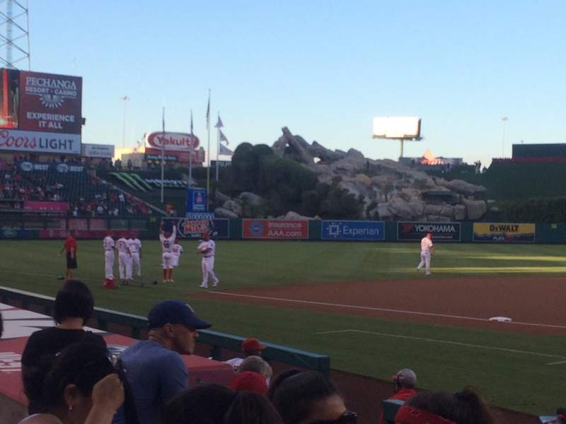 Seating view for Angel Stadium Section 113 Row E Seat 5