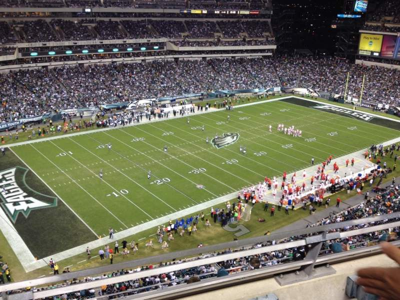 Seating view for Lincoln Financial Field Section 220 Row 6 Seat 9