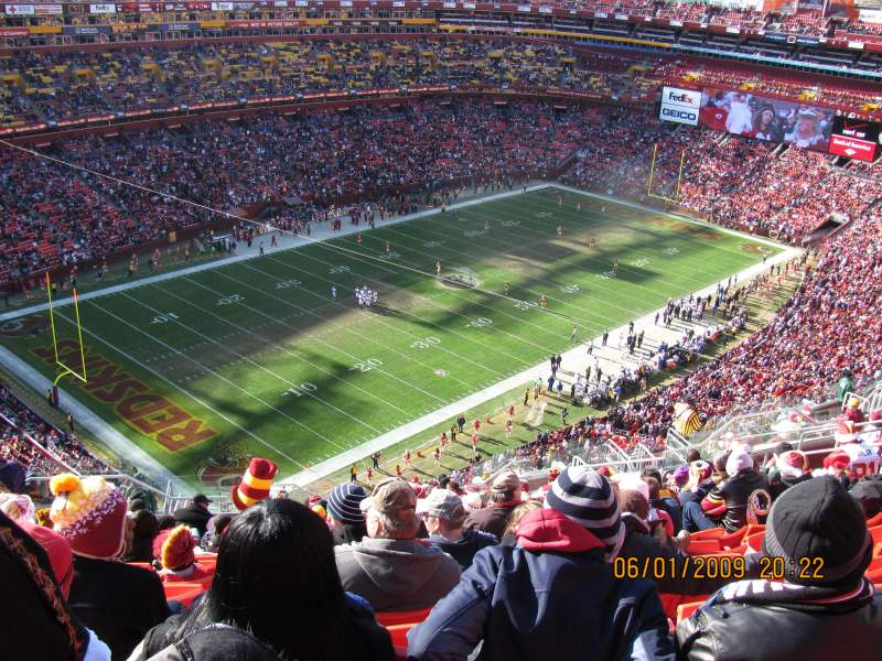 Seating view for FedEx Field Section 434 Row 29 Seat 20