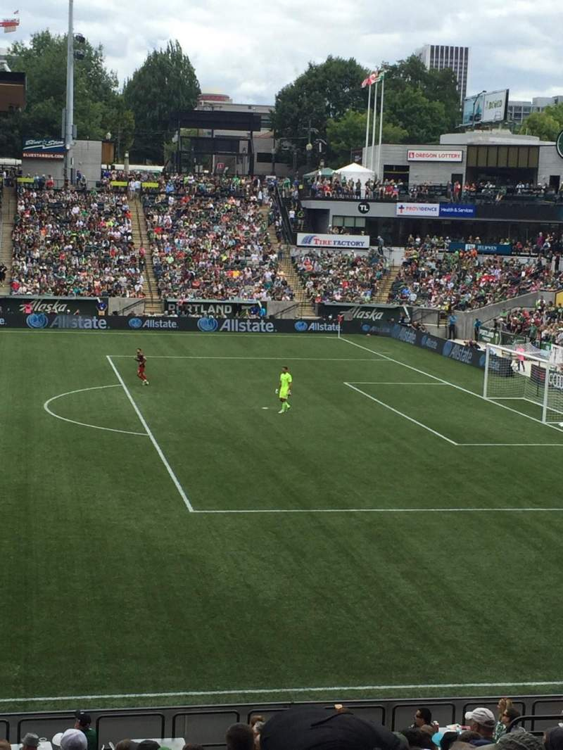Seating view for Providence Park Section 120 Row P Seat 14