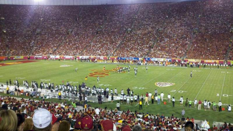 Seating view for Los Angeles Memorial Coliseum Section 5H Row 43 Seat 102