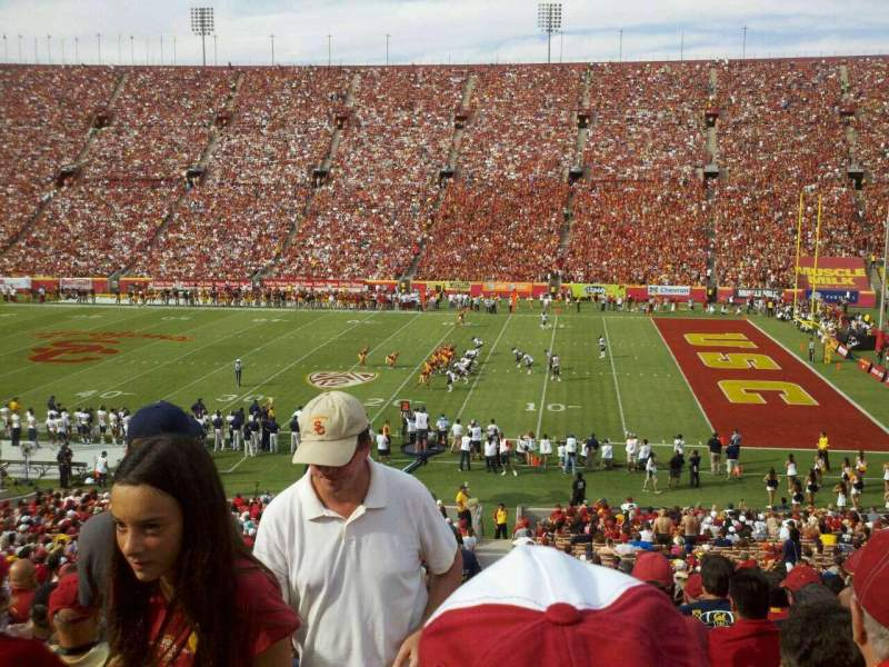 Seating view for Los Angeles Memorial Coliseum Section 5 Row 43 Seat 103