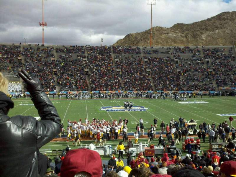 Seating view for Sun Bowl Stadium Section 6 Row 29 Seat 3