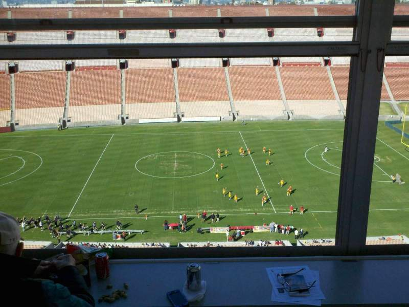 Seating view for Los Angeles Memorial Coliseum Section Press Box Seat 239