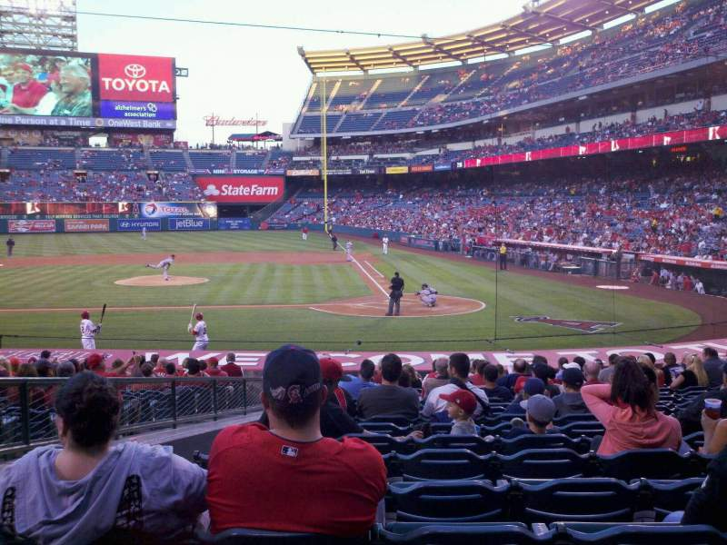 Seating view for Angel Stadium Section F114 Row W Seat 3