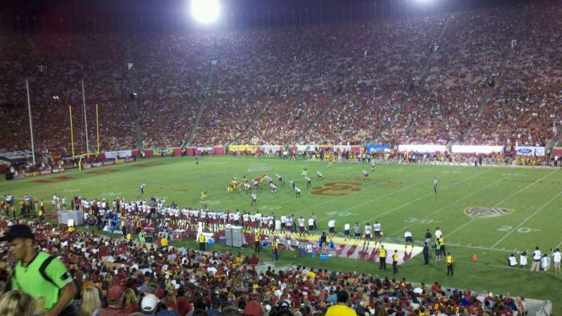 Seating view for Los Angeles Memorial Coliseum Section 5H Row 43 Seat 104W