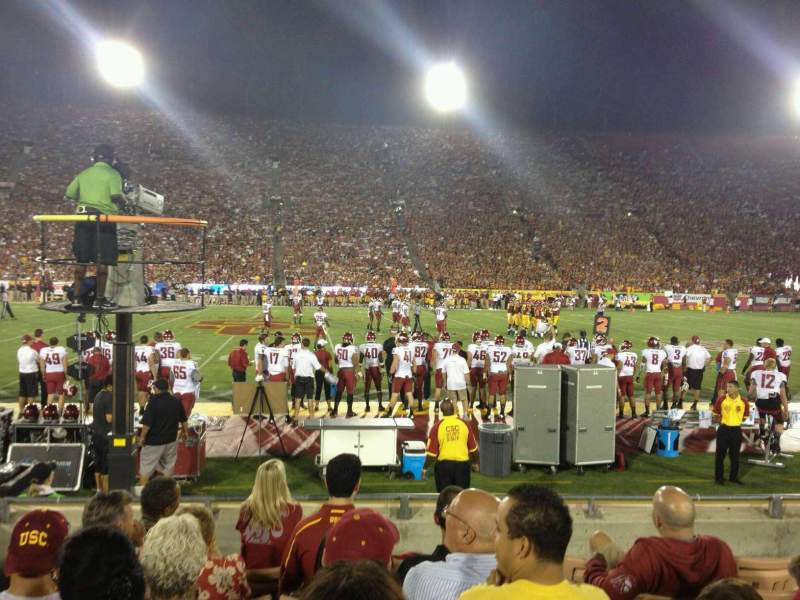 Seating view for Los Angeles Memorial Coliseum Section 106B Row 7 Seat 8