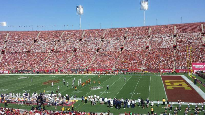 Seating view for Los Angeles Memorial Coliseum Section 5 Row 43 Seat 105W