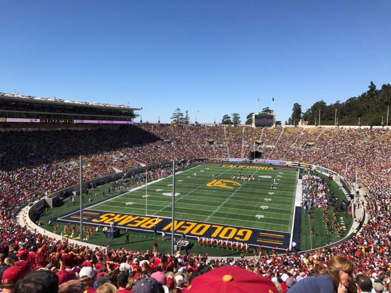 California Memorial Stadium, section: N, row: 74, seat: 1
