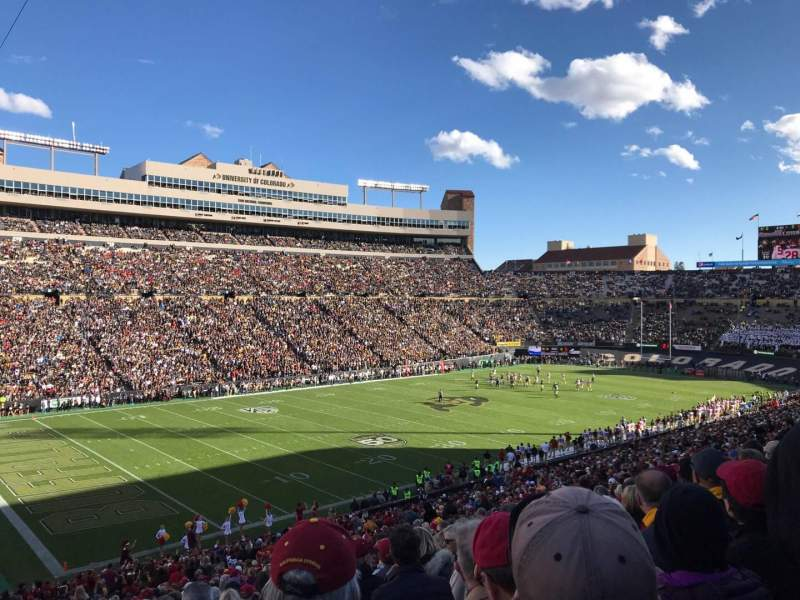 Folsom Field, section: 102, row: 51, seat: 5
